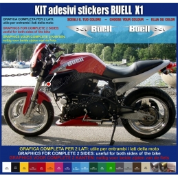 Kit adesivi carene replica Buell X1