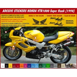 Kit adesivi carene replica Honda VTR 1000 Super Hawk (anno 1998)