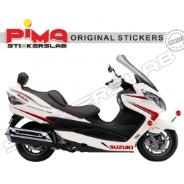 ADESIVI STICKERS SUZUKI BURGMAN 400 - KIT N. 1