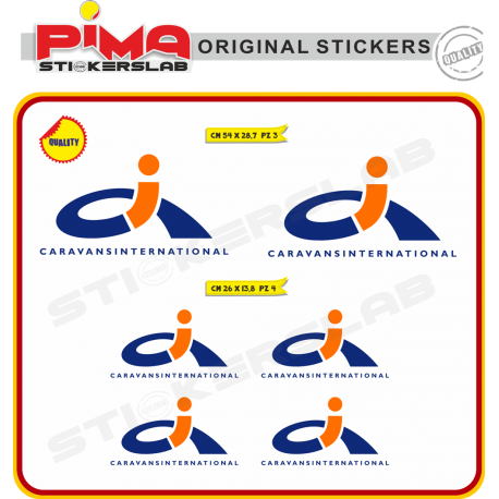 ADESIVI STICKERS CARAVAN INTERNATIONAL CAMPER CARAVAN ROULOTTE