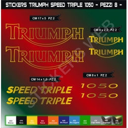 Kit Adesivi Stickers TRIUMPH Speed Triple 1050 - 08 pezzi-