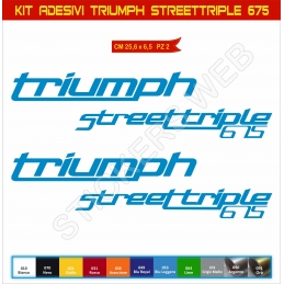 Kit Adesivi Stickers Triumph Streettriple 675