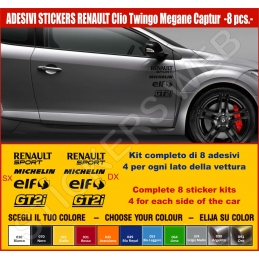 Kit Adesivi Stickers RENAULT UNIVERSALE - KIT COMPLETO-