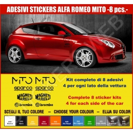 Kit Adesivi Stickers ALFA ROMEO MITO 8 - KIT COMPLETO-