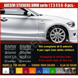 Kit Adesivi Stickers BMW SERIE 1 2 3 4 5 6- KIT COMPLETO-