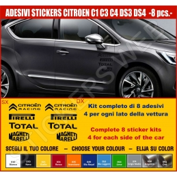 Kit Adesivi Stickers CITROEN C1 C3 C4 DS3 DS4 - KIT COMPLETO-