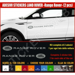 Kit Adesivi Stickers LAND ROVER Range Rover Evoque -2 - KIT COMPLETO-