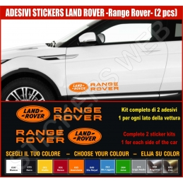 Kit Adesivi Stickers LAND ROVER Range Rover Evoque -2 KIT2 - KIT COMPLETO-