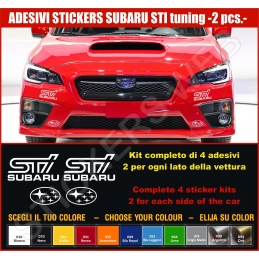 Kit Adesivi Stickers SUBARU STI Subaru Tecnica International - KIT COMPLETO-