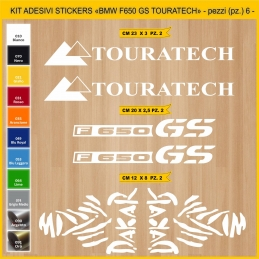 Kit Adesivi Stickers BMW TOURATECH F650 GS - 06 pezzi-